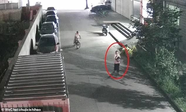During the police investigation, the officials spotted the parent on CCTV footage. She is seen walking and looking around as she carried the black plastic bag with her daughter inside
