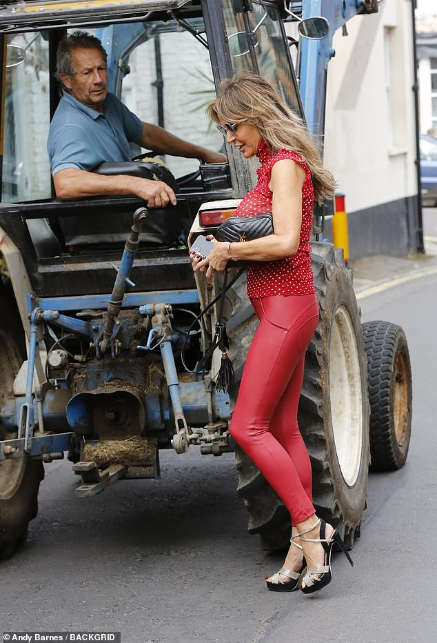 Which way? She needn't have worried about being lost because a tractor-driving hero stepped in to help the damsel in distress