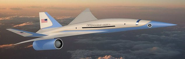 The above image shows a rendering of what a future supersonic version of Air Force One could look like