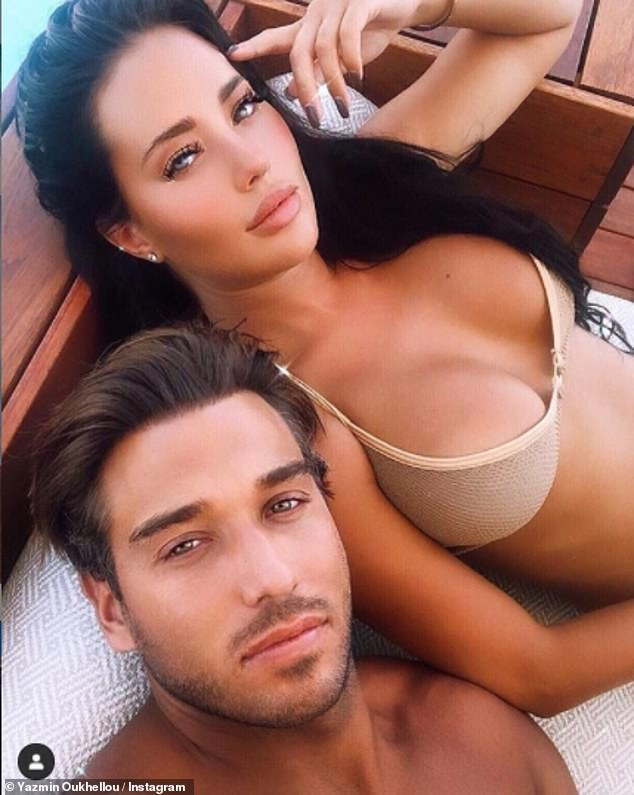 Back on: The on-again couple recently packed on the PDA during a holiday to Crete after they rekindled their romance earlier in the summer following an acrimonious break-up in 2019