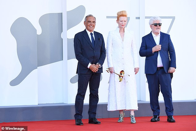 Premiere: They were also joined at the event by Venice chief Alberto Barbera