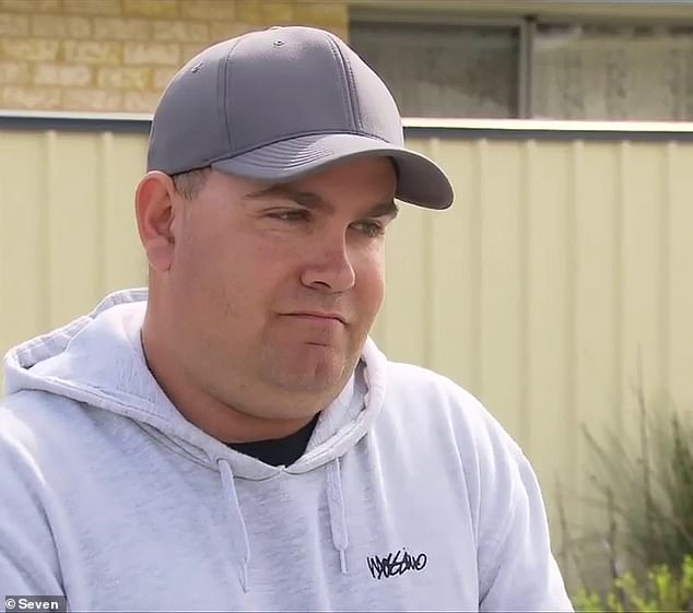 The FIFO worker (pictured) has been permanently banned from using the food delivery service Menulog