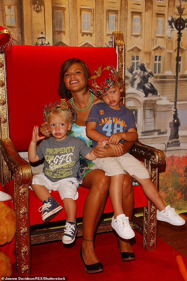 Loss: Sadly, their mother Jade passed away on 22 March 2009 (pictured with her beloved sons in July 2006)