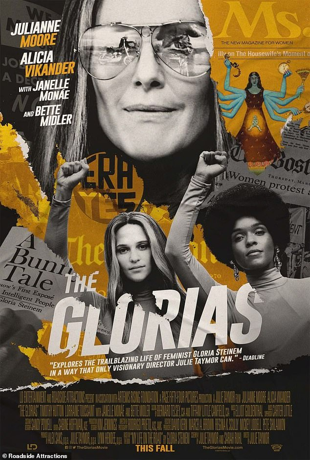 Taymor told the mag:'Gloria is a living leader - a hero because she carved out her course in life against many odds and made it work for herself and for millions of women'