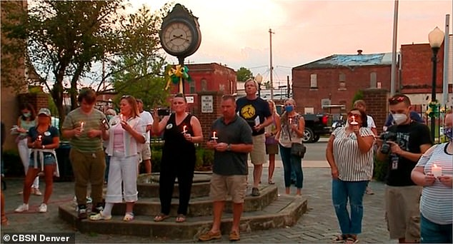 Moorman held a vigil (pictured) for his sister in her hometown of Alexandria, Indiana, on Saturday, where he announced his plan to recruit 1,000 volunteers for a five-day search