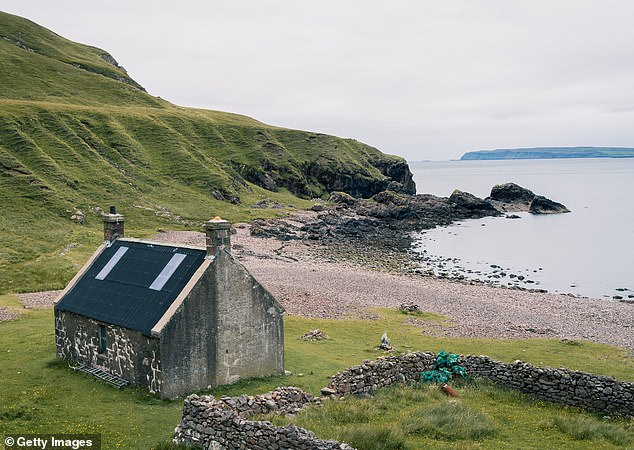 There have also been a number of bids made by Londoners looking to swap the city for life on the island, pictured, which has only one community shop