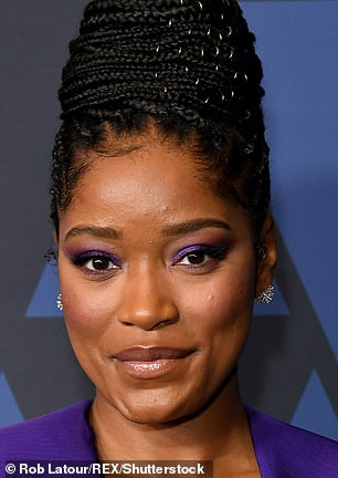 Glamourama: Keke is seen with a full face of makeup in October 2019 above