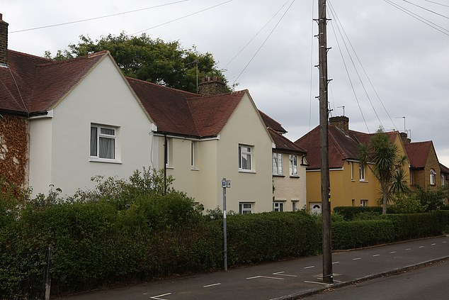 The council claims that painting the houses in the 'chicken korma' colour is part of a scheme to make the houses for energy efficient, but it has angered the local residents