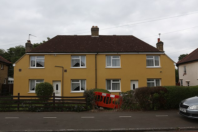 The council said in a statement that residents were consulted over the colour, which was set to be 'magnolia', but at some point the decision was made to use a 'sand yellow' instead