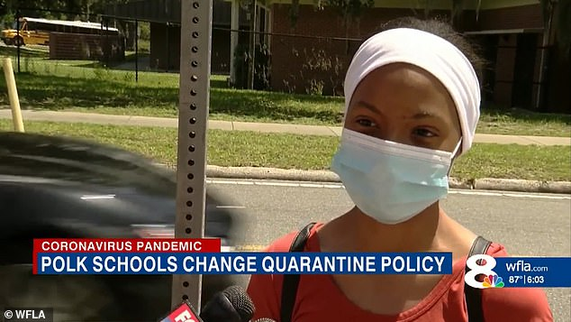 'It's really messed up. You're taking a risk with other people's lives. It's wrong,' Lakeland high school student Perla Cruz said