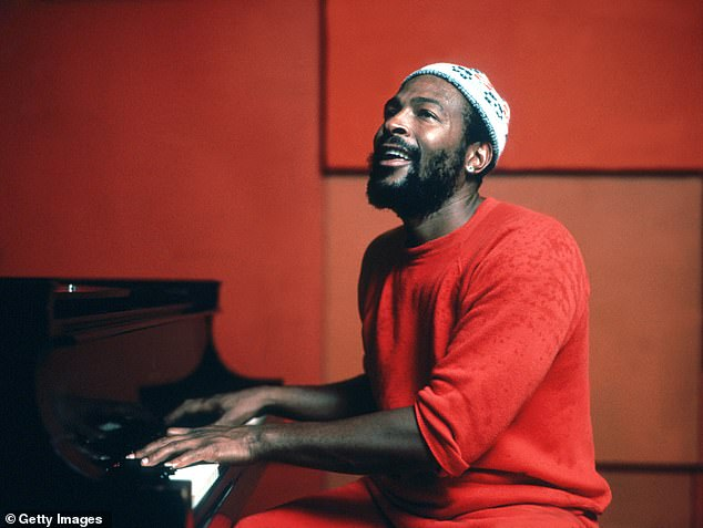 Regrets, I have a few: Fonda said she regrets never getting it on with Sexual Healing singer Marvin Gaye, above 1974. 'He wanted to and I didn't,' she explained, adding 'I was married to Tom [Hayden]'