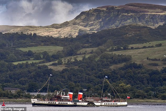 An appeal for funding was launched last year after it was announced the paddle steamer would not sail in 2019. Pictured: The ship returns to sailing on the Clyde on August 22
