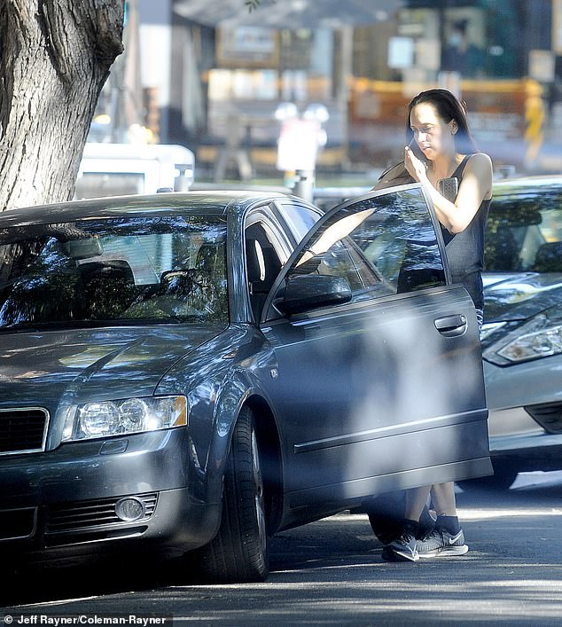 While agents on Selling Sunset are often seen driving high-end cars as they enjoy the high life, Davina was spotted this week in an old Audi A4 as she ran errands in West Hollywood