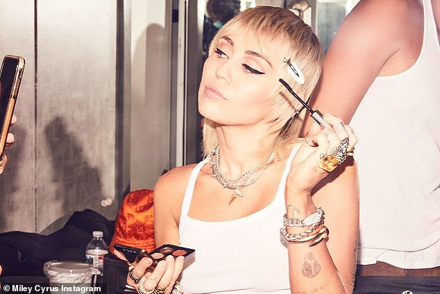 Double standards: Miley has revealed how she wanted the 'beauty light' cut from her VMAs performance