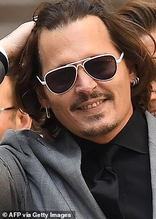 Dalliance? Johnny Depp has been romantically linked to German model and Made In Chelsea star Sophie Hermann