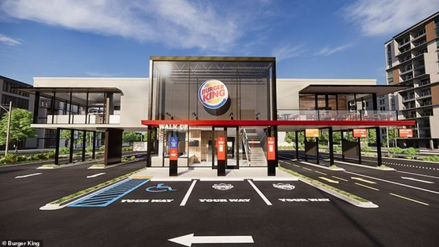 Coming soon! Burger King announced today that it will be building new 'touchless' restaurants to meet the demands of the pandemic