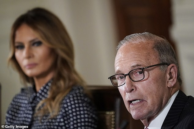 Larry Kudlow shared his story of addiction and recovery to first lady Melania Trump at the event, which took place during National Recovery Month