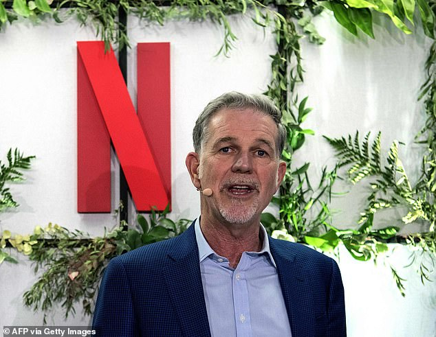 Billionaire Reed Hastings (above) likes to boast that the inspiration for Netflix came to him after he was stung with a $40 late fee for a video of the film Apollo 13 he had rented from Blockbuster. Co-founder Marc Randolph begs to differ