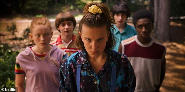 Dividing films up into more than 75,000 different ¿micro-genres¿ based on stars, locations or plot themes, Netflix allows subscribers to be incredibly specific in their film demands. Stranger Things is seen above