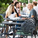 Charles Dance displays youthful physique shares a kiss with a younger female companion in Venice