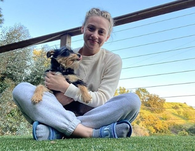 Scary: While dealing with both the end of her relationship and self-isolation, her new puppy, Milo, was attacked by another dog in April and needed surgery