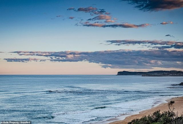 The buyers are reportedly a Sydney family who had never heard of Forresters Beach (pictured) before being shown the property