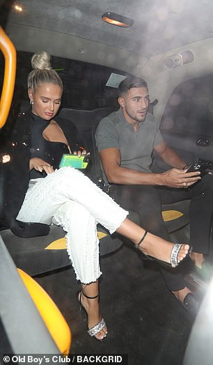 Home time? It's unclear where the couple's next destination on the night out was