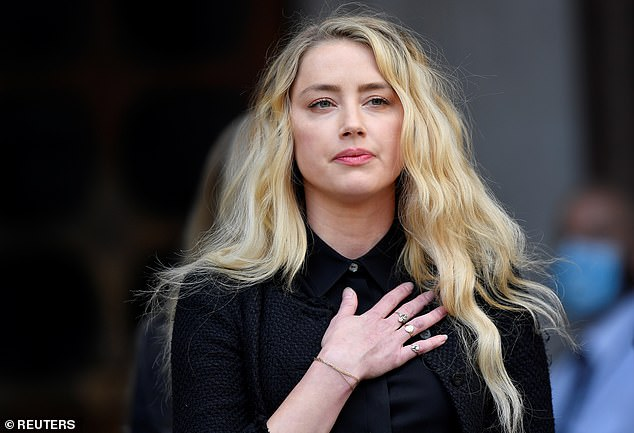 Amber Heard, 34, leaves the High Court in London, Britain July 28, 2020