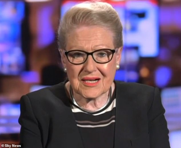 Bronwyn Bishop (pictured), Australia's longest serving female politician, has leapt to Mr Abbott's defence, stating he was a victim of 'disgraceful character assassination'