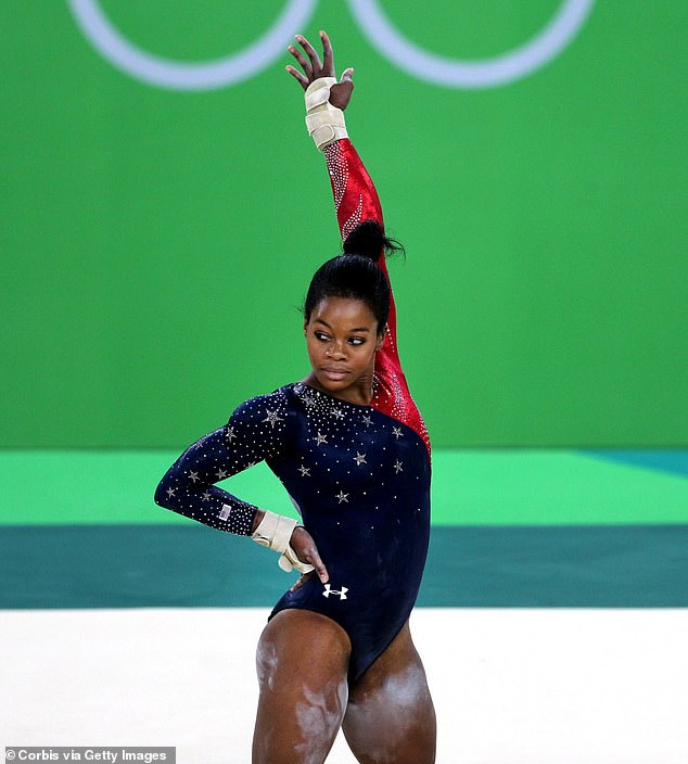 Olympian: Gabby became a household name in 2012 when she became the 'all around champion' in gymnastics at the Olympic Games in London, England; Gabby pictured in 2016