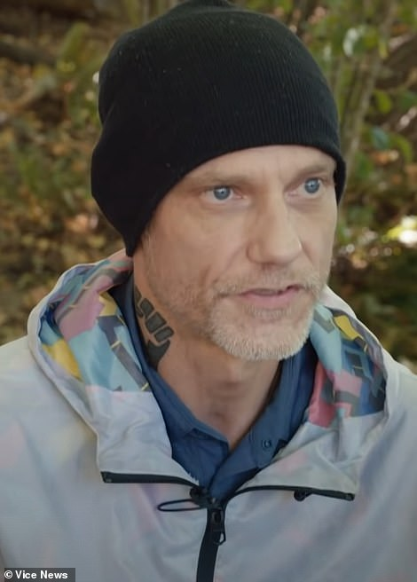 Antifa member Michael Reinoehl, 48, (above) spoke out in a video interview published by Vice News on Thursday. Later in the day, he died as police attempted to arrest him