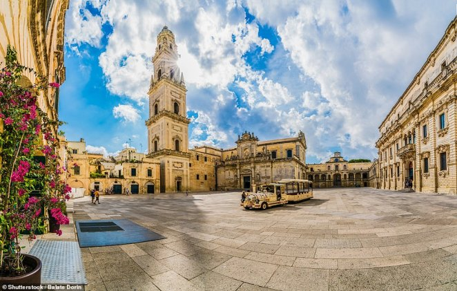 The Piazza del Duomo in Lecce, which has been dubbed both the 'Florence of the south' and 'the city of 100 churches'