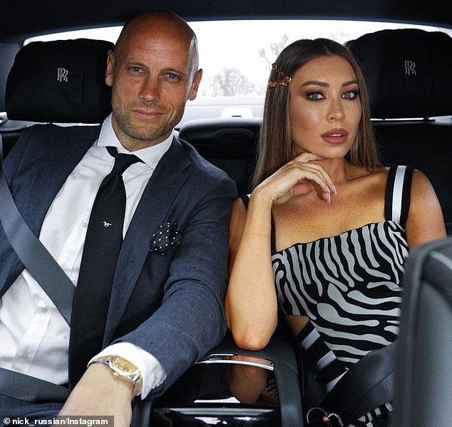 Hospitality honcho Nick Russian (left) and his influencer wife Rozalia (right)could be Melbourne's new power couple if he decides to run for Lord Mayor and wins
