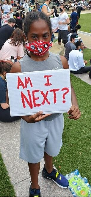 Elijah at a protest