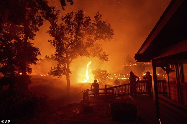 The Golden State is already under the grip of dozens of mammoth wildfires which have so far destroyed more than 1.5 million acres. The LNU fire in August