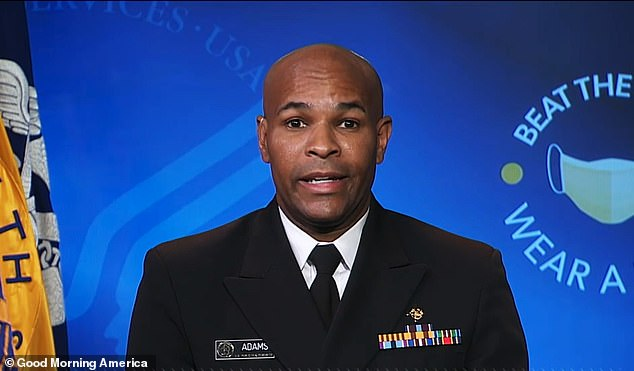 US Surgeon General Dr Jerome Adams told Good Morning America that it is 'possible, though not probable' that the US will have a coronavirus vaccine by November 1 f