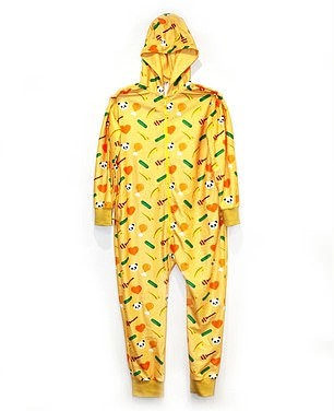 The print can also be found on a $60 adult onesie