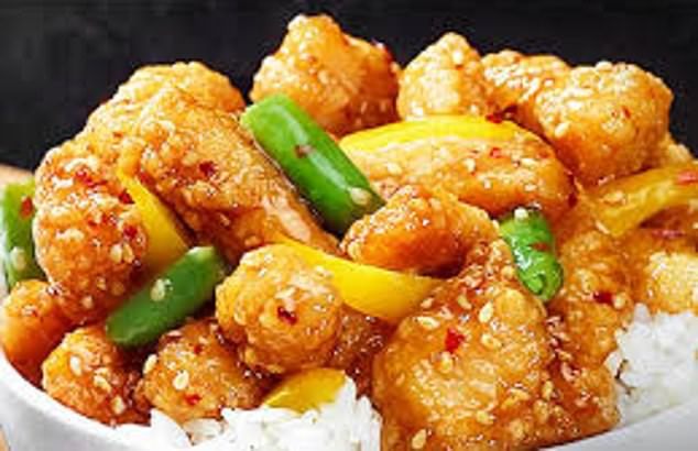 'Candles are so romantic. Especially when you¿re in love with Honey Sesame Chicken Breast,' reads the description