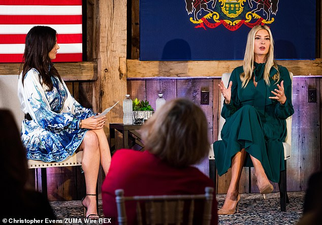 Busy! Ivanka later attended a campaign event atBrandywine Manor House in Pennsylvania, where she was interviewed about her father's administration