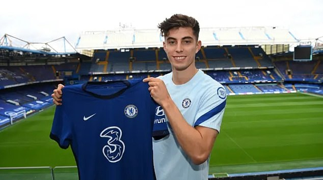 Kai Havertz has completed his £89million move to Chelsea from Bayer Leverkusen
