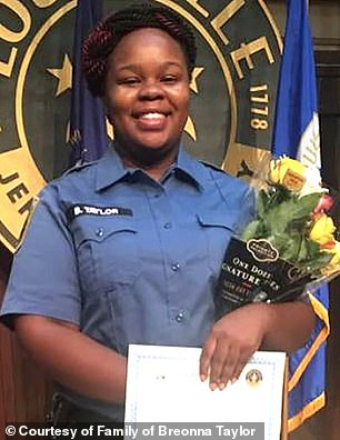 Breonna Taylor, a 26-year-old emergency medical worker, was shot dead by police serving the 'no knock' narcotics search warrant at her apartment on March 13