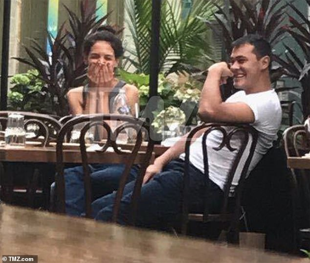 New flame? Katie Holmes looked like she was having fun while sharing dinner with handsome chefEmilio Vitolo Jr. in the SoHo neighborhood of NYC on Tuesday