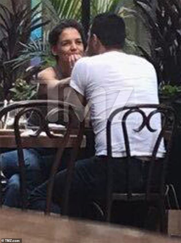 All ears: The 41-year-old actress and mother-of-one already seemed enamored, appearing to hang on the restaurateur's every word
