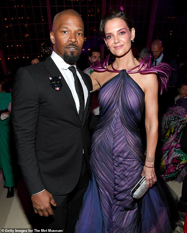 Quietly coupled: Jamie Foxx and Katie dated from around 2013 to 2019, but never officially confirmed their relationship. They're seen during their first and last public even together - the 2019 Met Gala -above