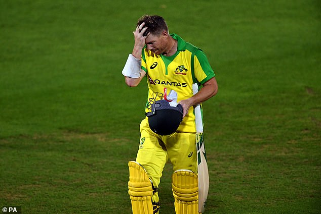 David Warner scored 58 for Australia but his dismissal was part of their abject batting collapse