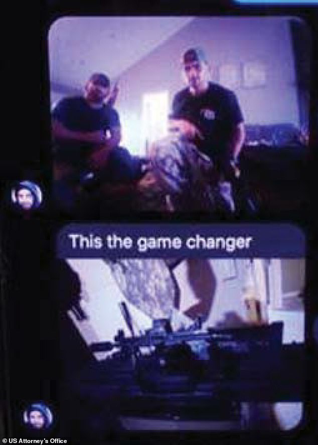 Authorities said a tipster told Iowa police that Karmo had guns and was traveling from Missouri to Kenosha. The tipster sent these text messages, supposedly from Karmo, to authorities