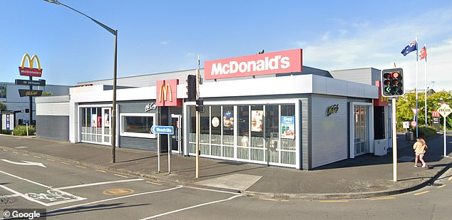 Ms Mohi burnt herself while in the drive-thru of McDonald's Princess Street (pictured) in Palmerston North, NZ on August 17