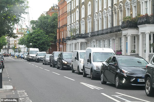 Traffic chaos in South West London in the Wandsworth Bridge Road area on Friday afternoon