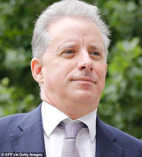 Steele is seen above in London on July 24