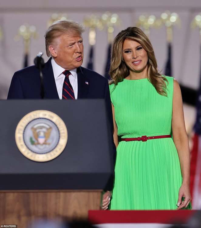 Melania Trump on Friday evening denied the Atlantic's story about her husband, which was published on Thursday night